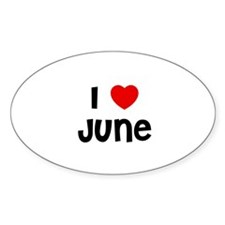 I * June Oval Decal