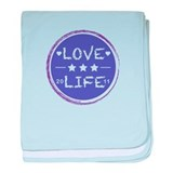 Love life (Purple) baby blanket