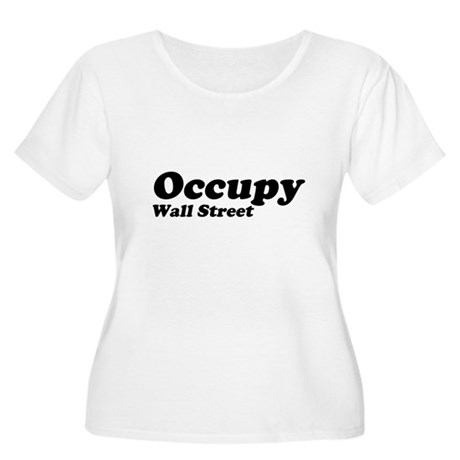 Occupy Wall Street Womens Plus Size Scoop Neck T-