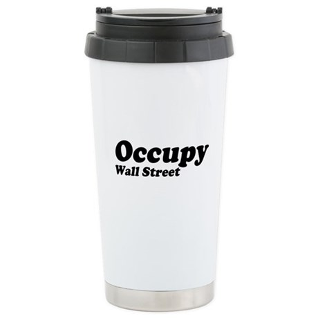 Occupy Wall Street Ceramic Travel Mug