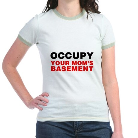 Occupy Your Mom's Basement Jr Ringer T-Shirt