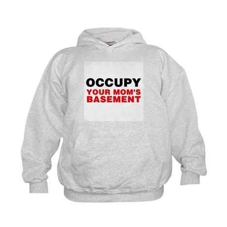 Occupy Your Mom's Basement Kids Hoodie
