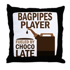 Bagpipes Player Gift Throw Pillow