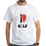 I Love Golf White T-Shirt