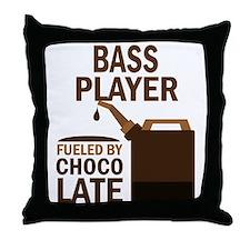 Bass Player Gift Throw Pillow