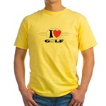 I Love Golf Yellow T-Shirt