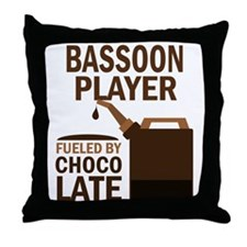 Bassoon Player Gift Throw Pillow