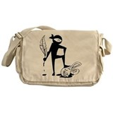 Plot Ninja kills Plot Bunny (b/w) Messenger Bag