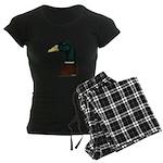 Mallard Drake Head Women's Dark Pajamas