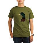 Mallard Drake Head Organic Men's T-Shirt (dark)