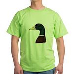 Mallard Drake Head Green T-Shirt