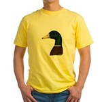 Mallard Drake Head Yellow T-Shirt