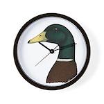Mallard Drake Head Wall Clock