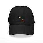 Mallard Drake Head Black Cap