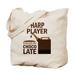 Harp Player Powered By Donuts Tote Bag