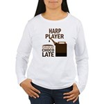 Harp Player Powered By Donuts Women's Long Sleeve