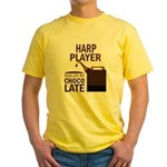 Harp Player Powered By Donuts Yellow T-Shirt