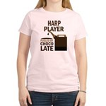 Harp Player Powered By Donuts Women's Light T-Shir