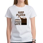 Harp Player Powered By Donuts Women's T-Shirt
