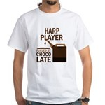 Harp Player Powered By Donuts White T-Shirt
