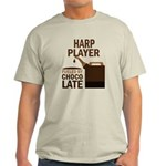 Harp Player Powered By Donuts Light T-Shirt