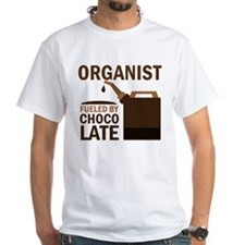 Organist Powered By Donuts White T-Shirt