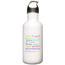 Fitness Collage Sports Water Bottle