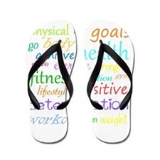 Fitness Collage Flip Flops