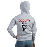 Occupy with Fist Zip Hoodie