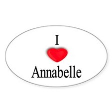 Annabelle Oval Decal