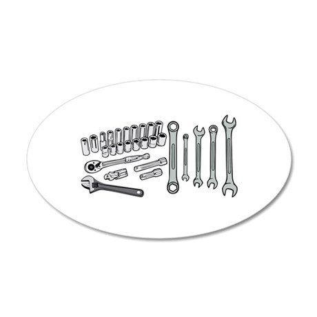 Wrenches 22x14 Oval Wall Peel