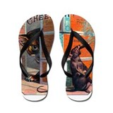 Cheese It Rat Cigar Label Flip Flops