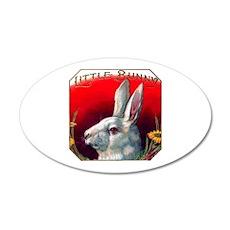 Little Bunny Cigar Label 22x14 Oval Wall Peel