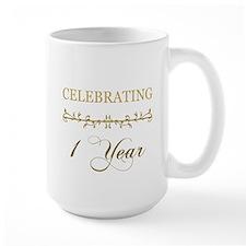Celebrating 1 Year Ceramic Mugs