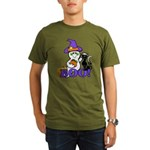 Halloween Ghost Organic Men's T-Shirt (dark)