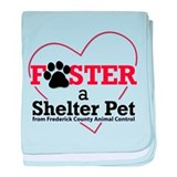 Foster a Shelter Pet baby blanket