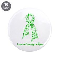 "Traumatic Brain Injury Ribbon 3.5"" Button (10 pack"