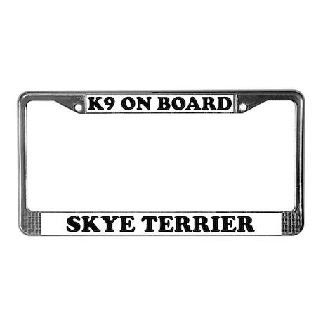 K9 On Board Skye Terrier License Plate Frame