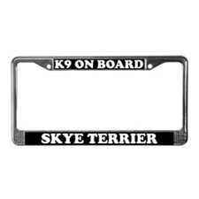 K9 On Board Skye Terrier License Plate Frame