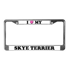I Heart My Skye Terrier License Plate Frame