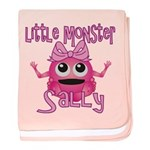 Little Monster Sally baby blanket