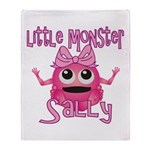 Little Monster Sally Throw Blanket