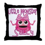 Little Monster Sally Throw Pillow