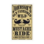 WILD MUSTACHE RIDE Sticker (Rectangle 10 pk)