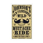 WILD MUSTACHE RIDE Sticker (Rectangle)