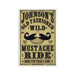 WILD MUSTACHE RIDE Rectangle Magnet