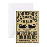 WILD MUSTACHE RIDE Greeting Cards (Pk of 10)