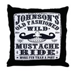 WILD MUSTACHE RIDE Throw Pillow