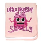 Little Monster Shelly baby blanket