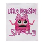 Little Monster Shelly Throw Blanket